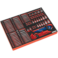 Sealey 177 Piece Screwdriver Bit and Socket Set in Module Tray