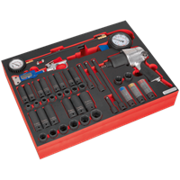 Sealey 42 Piece Impact Wrench, Socket and Tyre Tool Set in Module Tray for AP24 Tool Chests