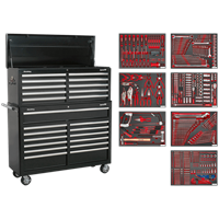 Sealey Superline Pro 23 Drawer Roller Cabinet and Tool Chest + 446 Piece Tool Kit