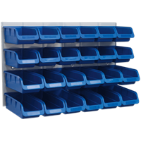 Sealey 24 Piece Storage Bin and Wall Panel Set