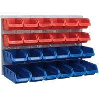 Sealey 24 Piece Plastic Storage Bin Set and Panel Combination