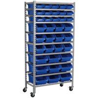 Sealey 36 Piece Mobile Bin Storage Rack