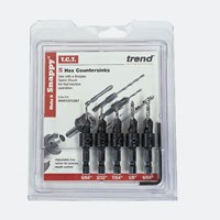 Trend Snappy 5 Piece TCT Drill Countersink For Wood Screws