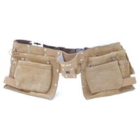 Professional Split Leather Double Tool Pouch