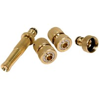 Sirius 4 Piece Brass Hose Pipe Connector Set