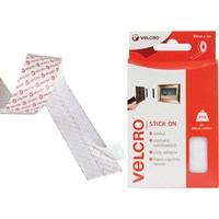 Velcro Stick On Tape White