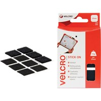Velcro Stick On Squares Black