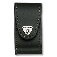 Victorinox Black Leather Pouch Fits 5-8 Layer Swiss Army Knives