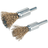 Sealey 2 Piece Brassed Decarbonising Wire Brush Set