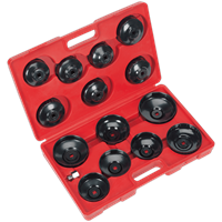 Sealey VS7003 15 Piece Oil Filter Cap Wrench Set