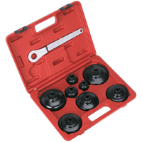Sealey VS7005 9 Piece Paper Cartridge Type Oil Filter Cup Wrench Set