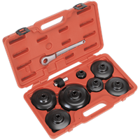 Sealey VS7007 9 Piece Oil Filter Cap Wrench Set For Commercial Vehicles