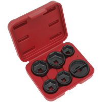Sealey VS7103 6 Piece Oil Filter Cap Wrench Set