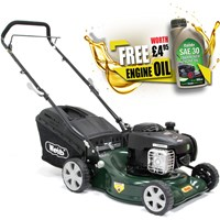 Webb WER16HP Push Petrol Rotary Lawnmower 420mms FREE Engine Oil Worth £4.95