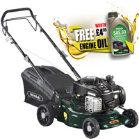 Webb WER16SP Self Propelled Petrol Rotary Lawnmower 420mm FREE Engine Oil Worth £4.95