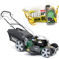 Webb WER21HW Self Propelled Petrol 4 in 1 Rotary Lawnmower 530mm FREE Engine Oil Worth £4.95