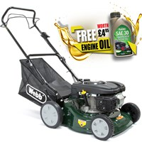 Webb WER41SP Self Propelled Petrol Rotary Lawnmower 400mm FREE Engine Oil Worth £4.95