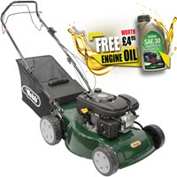 Webb WER46SP Self Propelled Petrol Rotary Lawnmower 450mm FREE Engine Oil Worth £4.95