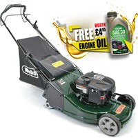 Webb WERR19SP Self Propelled Petrol Rotary Lawnmower 475mm FREE Engine Oil Worth £4.95