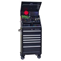 Sealey Premier Heavy Duty 6 Drawer Roller Cabinet & Wedge Tool Chest + 93 Piece Tool Kit
