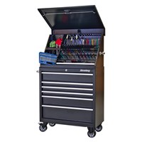 Sealey Premier Heavy Duty 6 Drawer Wide Roller Cabinet & Wedge Tool Chest + 167 Piece Tool Kit