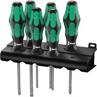 Wera 6 Piece Kraftform Screwdriver Set