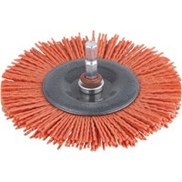 Wolfcraft Abrasive Nylon Bristle Wheel Brush