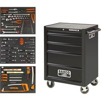 Bahco 5 Drawer Heavy Duty Rolling Cabinet & Tools Kit