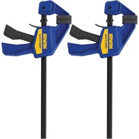 Irwin 2 Piece Quick-Grip Mini One Handed Clamp