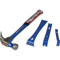 Vaughan R20 Curved Claw Nail Hammer and 3 Piece Bar Set