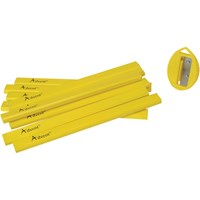 Advent 10 Piece Carpenter's Pencils & Sharpener