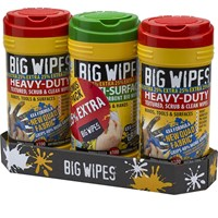 Big Wipes Scrub and Clean Triple Pack 25% Extra Free