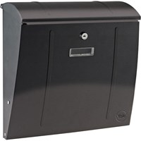 Yale Delaware Wall Mountable Postbox Black