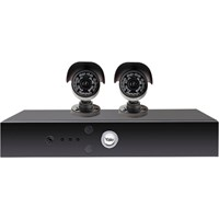 Yale Alarms Y402A-Hd 4 Channel Dvr Kit With 2 X 24 Led Hd720 Cameras