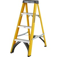 Youngman S400 Fibreglass Swingback Step Ladder