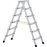 Zarges Anodised Double Sided Step Ladder