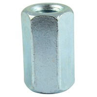 Hex Connector Nuts Bright Zinc Plated