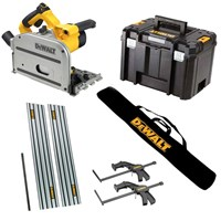 DeWalt DWS520KT Plunge Cut Circular Saw & Guide Rail Kit 240v