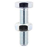 Hexagon Set Screws & Nuts Zinc Plated