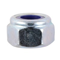 Nylon Lock Nuts Bright Zinc Plated