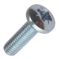Machine Screw Pozi Pan Head Bright Zinc Plated