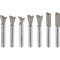 "Trend 7 Piece 1/4"" Dovetail Centre Cutter Set"