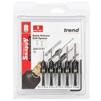 Trend Snappy 5 Piece Drill Countersink Set for Wood Screws