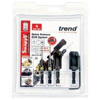Trend Snappy 4 Piece Drill Countersink and Plug Cutter Set