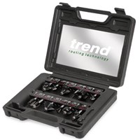 Trend 12 Piece 1/4 Shank Router Cutter Starter Set