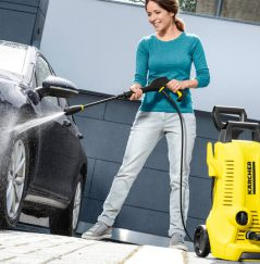 The Karcher HD 1040 B CAGE is a rugged industrial machine with a Honda petrol engine