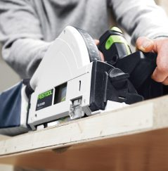 Festool plunge saw cutting wood