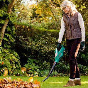 Choosing a Leaf Blower: The Bosch ALB 18 LI cordless leaf blower.