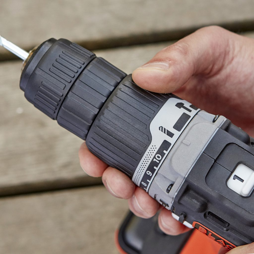 Hammer Action should be switched off before drilling tiles