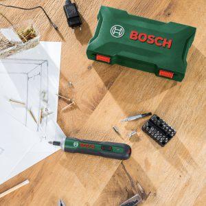 Bosch PushDrive Screwdriver Case & Bit Set
